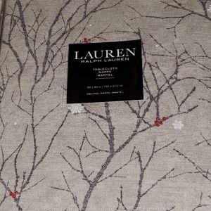Ralph Lauren Winter Nights silver tablecloth. NWT